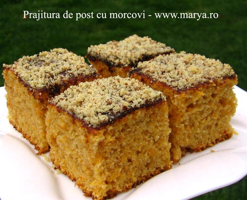 ... .ro Prajitura de post cu morcovi | Culinar, Desert, Retete de post: http://www.marya.ro/prajitura-de-post-cu-morcovi/