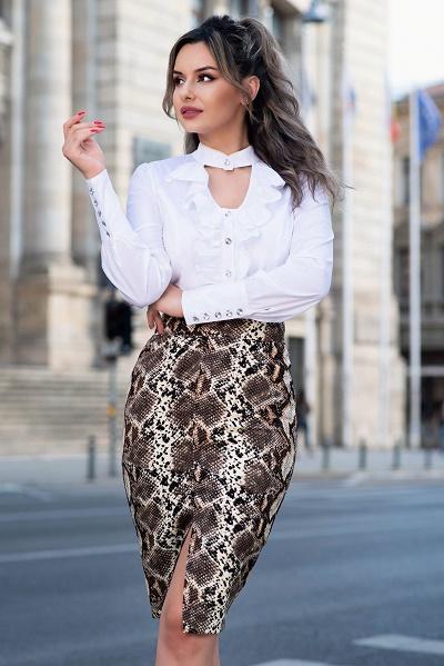 Camasi dama de culoare alba - Modele Online