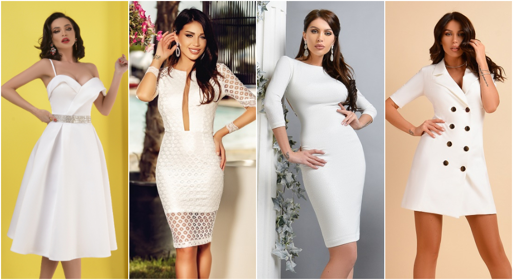 rochii albe elegante