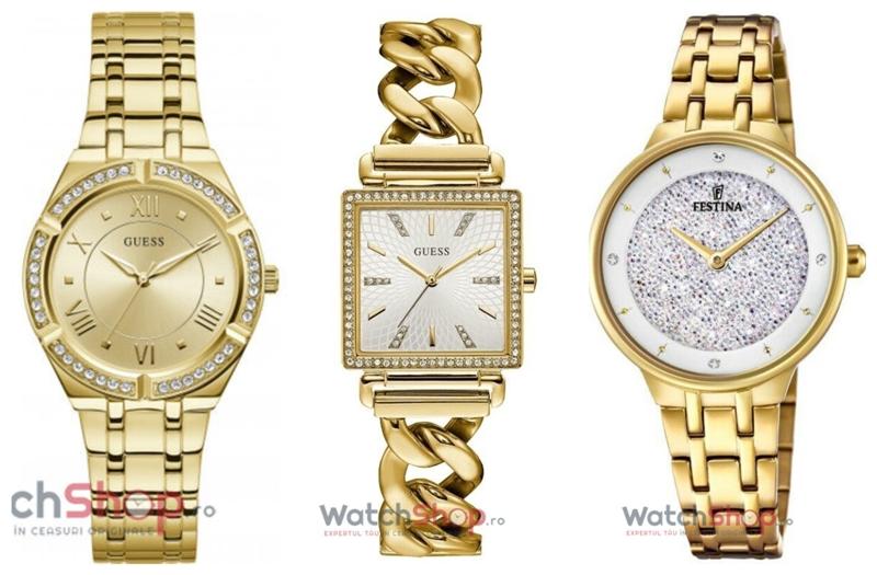 Ceasuri de Dama Aurii Online